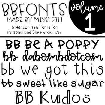 BB Fonts- Volume 1