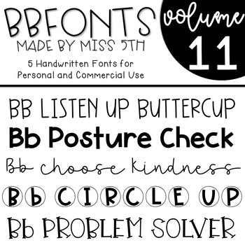 BB Fonts- Volume 11