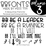 BB Fonts- Volume 3