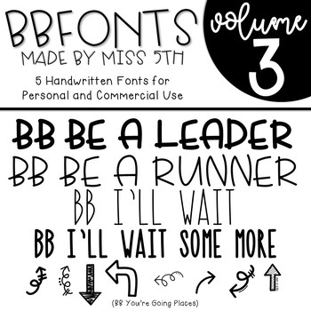 BB Fonts- Volume 3