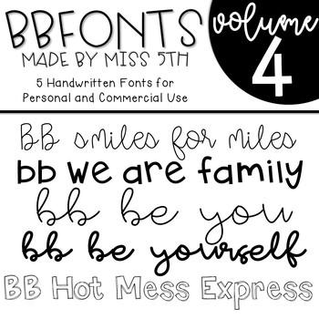 BB Fonts- Volume 4
