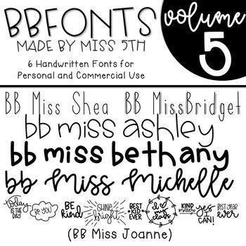 BB Fonts- Volume 5