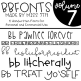 BB Fonts- Volume 7
