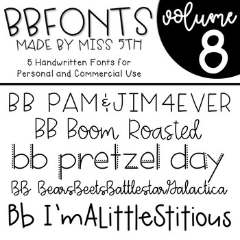 BB Fonts- Volume 8