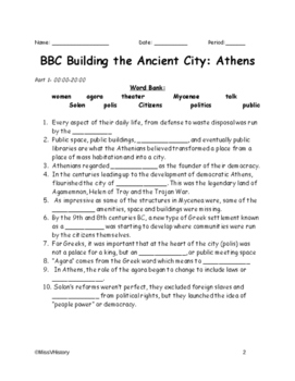 BBC Building the Ancient City: Athens Viewing Guide