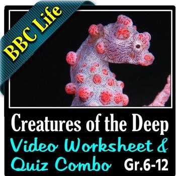 BBC Life - CREATURES OF THE DEEP - Video Worksheet & Quiz Combo {Editable}