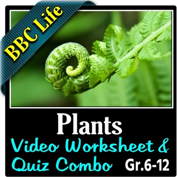 BBC Life - PLANTS - Video Worksheet & Quiz Combo {Editable}