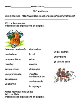 BBC Ma France Lessons 13-16 Handout