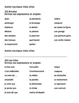 BBC Ma France Lessons 17-21 Handout