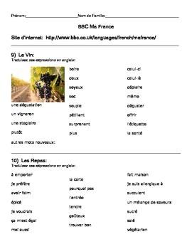 BBC Ma France Lessons 9-12 Handout