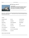 BBC Ma France Lessons 1-4 Handout