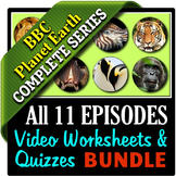 Planet Earth - All 11 Episodes - Video Worksheets & Quizzes Bundle {Editable}