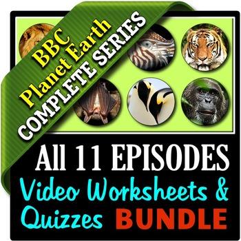 Planet Earth - All 11 Episodes - Video Worksheets & Quizzes Bundle {Editable}