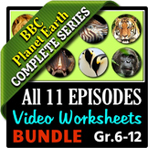 Planet Earth - All 11 Episodes - Video Worksheets Bundle {Editable}