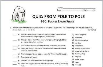 Planet Earth - All 11 Episodes - Video Quizzes Bundle {Editable}