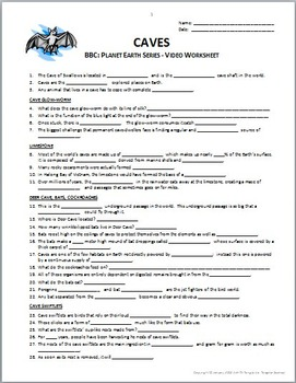planet earth caves video questions worksheet editable by tangstar science. Black Bedroom Furniture Sets. Home Design Ideas