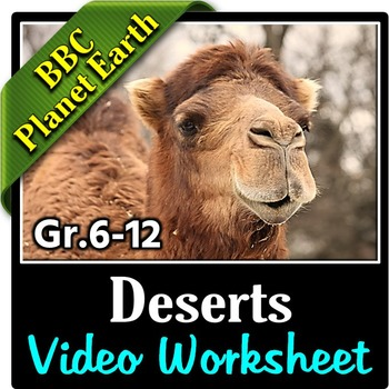 Planet Earth - DESERTS - Video Questions Worksheet {Editable}