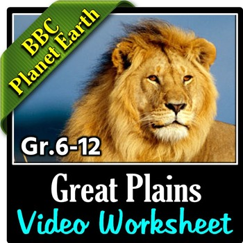 planet earth great plains video questions worksheet editable. Black Bedroom Furniture Sets. Home Design Ideas