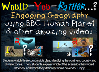 BBC Would You Rather (14 engaging lessons) PPTs, hyperlinks, handouts