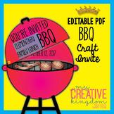 BBQ (Barbecue) Invite Card Craft