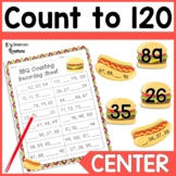 BBQ Counting to 120 Math Center