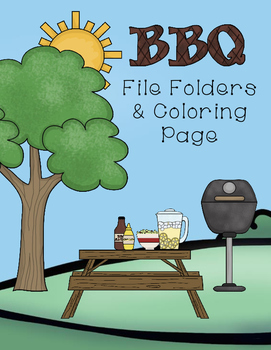 BBQ File Folder Matching and Color Page