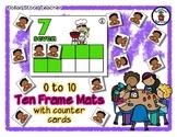 BBQ Friends - Ten Frame Mats 0 to 10 & Counter Cards