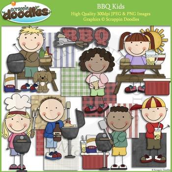 BBQ Kids Clip Art