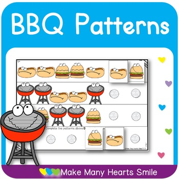 BBQ Patterns Cut and Glue Worksheets