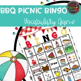 BBQ Picnic Vocabulary Bingo