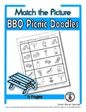 BBQ / Picnic Object Matching - Print, Answer & Color Works