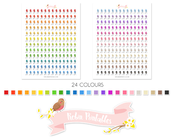 BBQ Printable Planner Stickers
