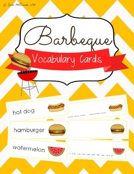 BBQ Vocabulary Cards and Spelling Practice