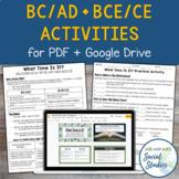 BC AD BCE CE Timeline Activity for Google Drive + PDF