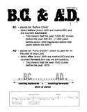 B.C. & A.D. Student Handout