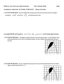 BC Calculus- Area and Volume