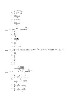 BC Calculus- Logs and Exponentials Derivatives