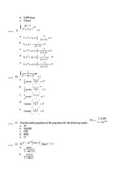 BC Calculus- Logs and Exponentials Integration