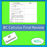 BC Calculus – Final Review
