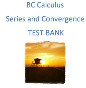 BC Calculus- Series and Convergence
