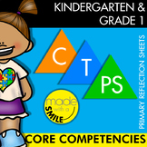 BC Core Competencies Primary Reflection Sheets Kindergarten and Grade 1