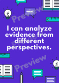 BC Core Competency Poster - I Can Analyze Evidence  - MIddle/High School