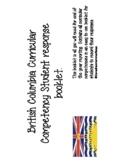 BC Core Competency Student Response Book Bundle