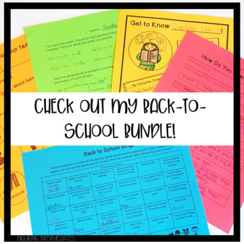 Back to School Student Self-Evaluation of Subjects: Includes a SPED version