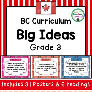 BC Grade 3 Big Ideas