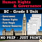 BC Grade 5 - Government, Human Rights, Protests, First People, and Resources