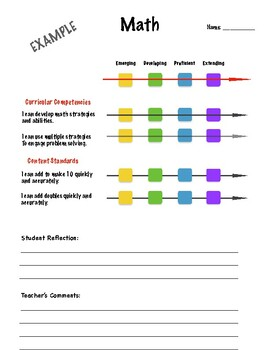 BC New Curriculum Assessment Forms