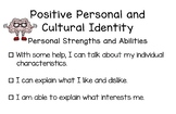 BC Redesigned Curriculum Core Competency Posters - Positive Personal Cultural ID