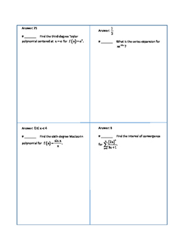 BC calculus series review