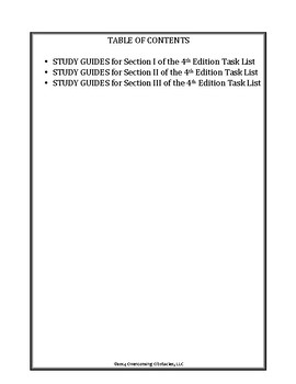 BCBA/BCaBA 4th Edition Task List Study Guides Bundle 1